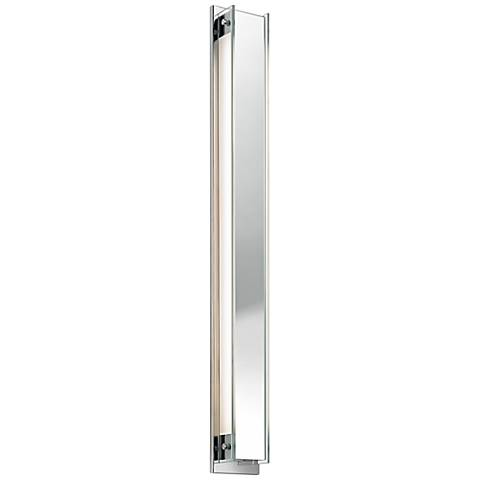"Sonneman Accanto Chrome 40 1/4"" High Clear Glass Wall Sconce"