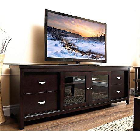 Weston Millbury Espresso Solid Oak TV Stand