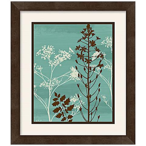 """Silhouette Flower 13 1/2"""" Square Framed Wall Art"""