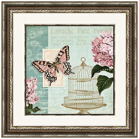 "Botanical Garden II 24"" Square Floral Wall Art"