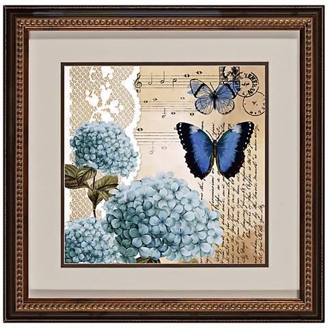 """Botanical Butterflies II 18 1/2"""" Square Framed Wall Art"""