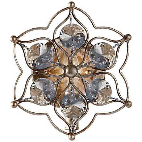 """Feiss Leila 9 1/2"""" High Burnished Silver Wall Sconce"""