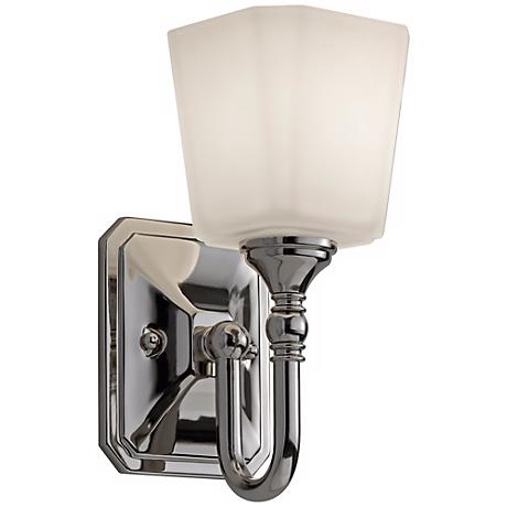 feiss concord 10 1 4 high nickel wall sconce x2408 lamps plus. Black Bedroom Furniture Sets. Home Design Ideas