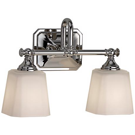 """Feiss Concord 2-Light 14"""" Wide Nickel Wall Sconce"""