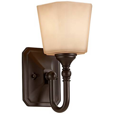 feiss concord 10 1 4 high bronze wall sconce x2421 lamps plus. Black Bedroom Furniture Sets. Home Design Ideas