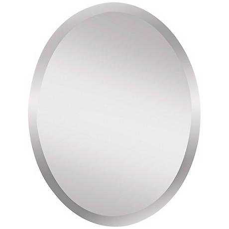 "Feiss Infinity 28"" High Oval Wall Mirror"