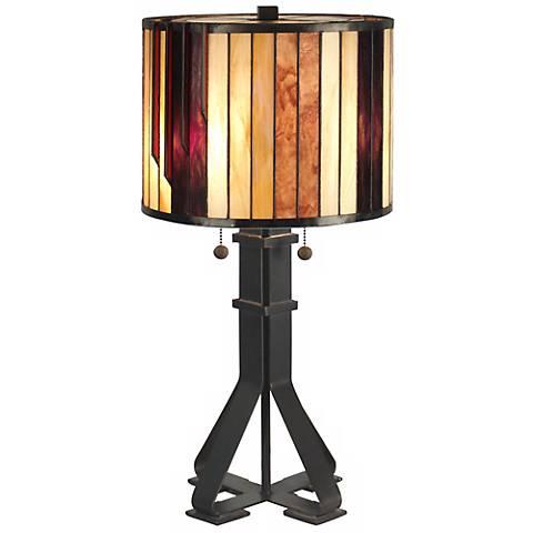 Dale Tiffany Geometric Art Glass Table Lamp