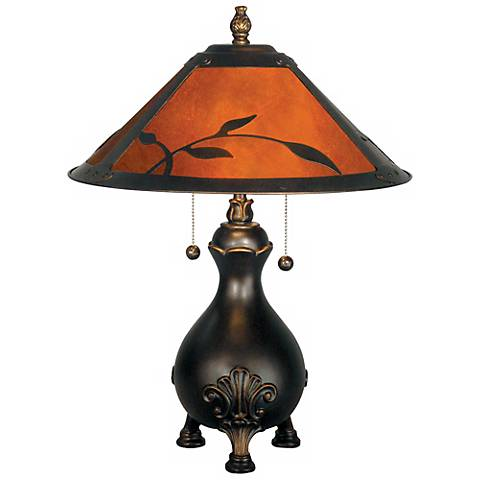 Dale Tiffany Mica Leaves Table Lamp