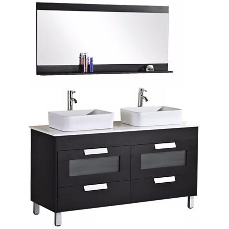 "Francesca 55 1/4"" W Double Sink Vanity Set"