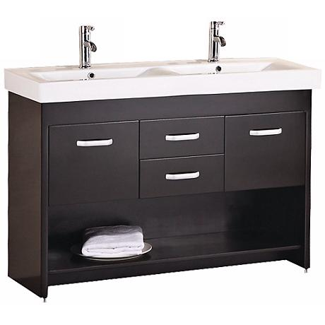 "Citrus 48"" Double Sink Espresso Vanity Set"