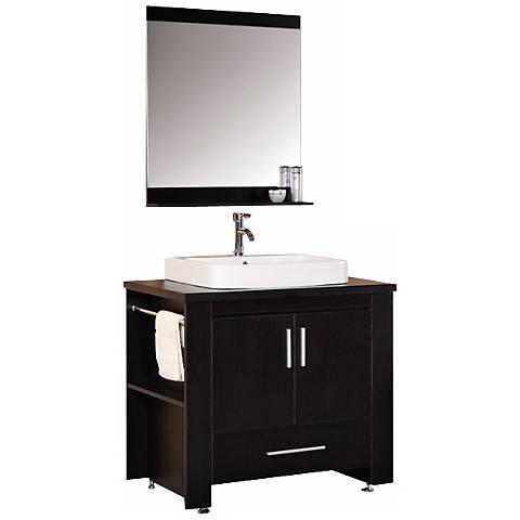 "Washington Espresso 36"" Single Sink Vanity Set"