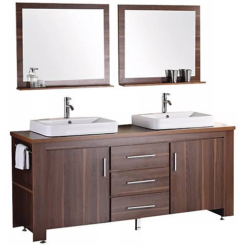 "Washington Toffee 72"" Double Sink Vanity Set"