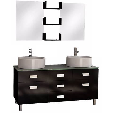 "Wellington 72"" Double Sink Vanity Set"