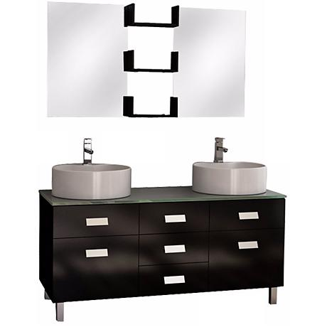 "Wellington 72"" Double Sink Vanity Set"