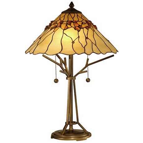 Bronze Branch Base Dale Tiffany Table Lamp X3255