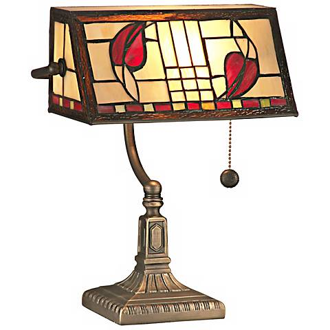 Dale Tiffany Henderson Banker's Accent Lamp