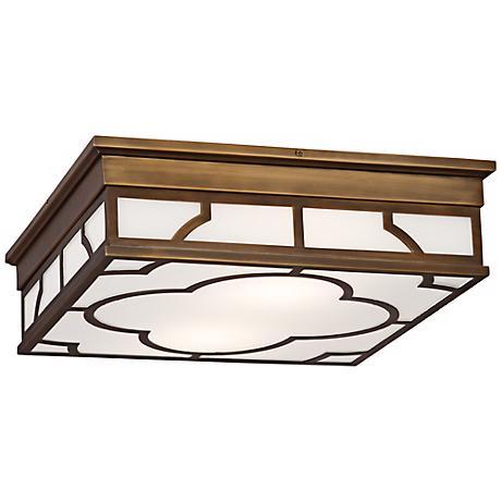 """Robert Abbey Addison 15 3/4"""" Wide Brass Ceiling Light."""