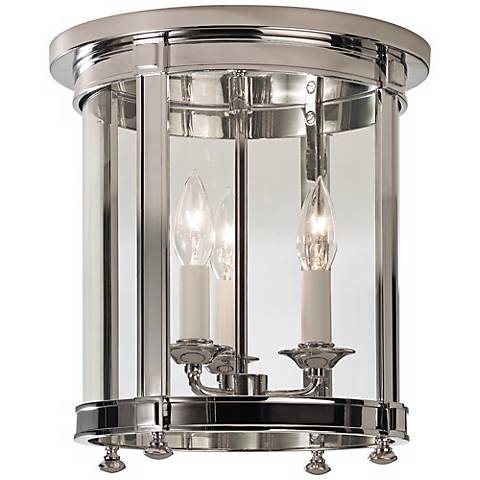 "Robert Abbey Blake 12 1/2"" High Nickel Ceiling Light"