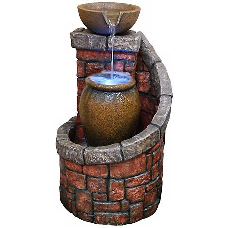 Roussillon Three Tier Fountain with LED Light