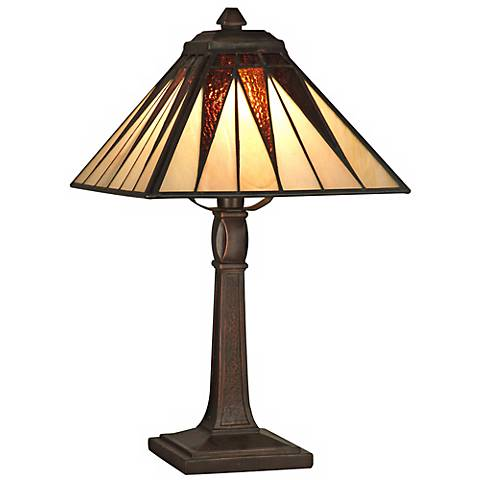 Dale Tiffany Cooper Hand-Rolled Art Glass Accent Lamp