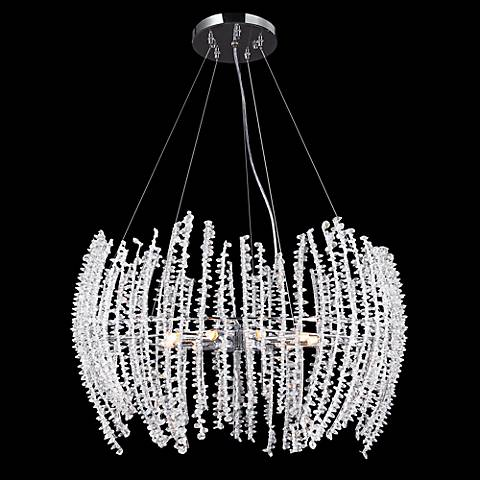 "James R. Moder 25"" Wide Crystal Strand 9-Light Chandelier"