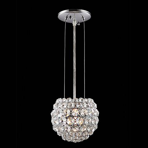 "James R. Moder 5"" Wide Round Crystal Mini Pendant Light"