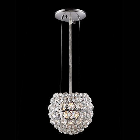 "James R. Moder 5"" Wide Round Crystal Mini Pendant Light"