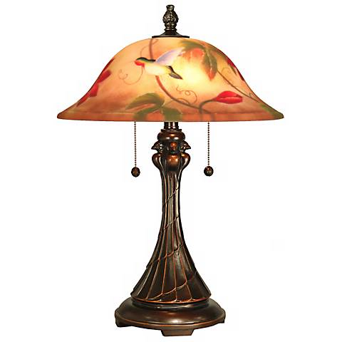Tropical Sun Hand-Painted Dale Tiffany Table Lamp