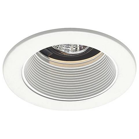 "4"" Low Voltage White Baffle Recessed Light Tri"