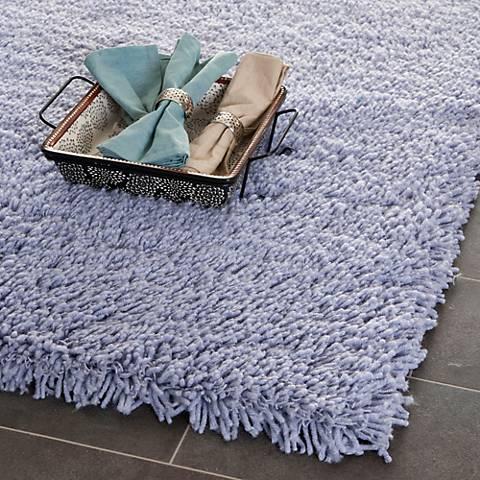 Shag Collection SG140C Lilac Shag Area Rug
