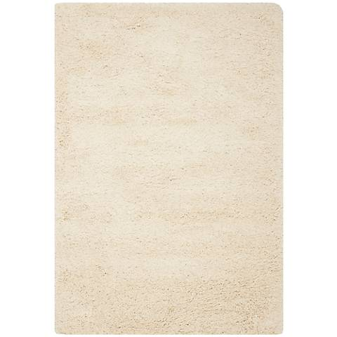Shag Collection SG151-1212C Ivory Shag Area Rug