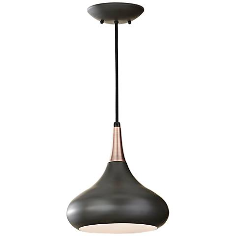"""Feiss Beso 10"""" Wide Dark Bronze Mini Pendant"""