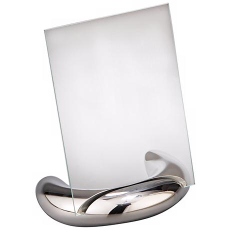 Nambe Elbow 4x6 Metal and Glass Photo Frame