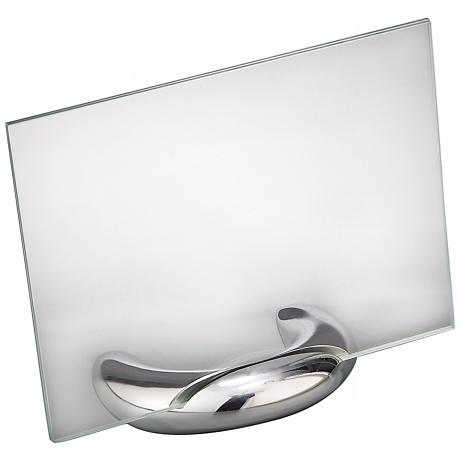 Nambe Elbow 5x7 Metal and Glass Photo Frame