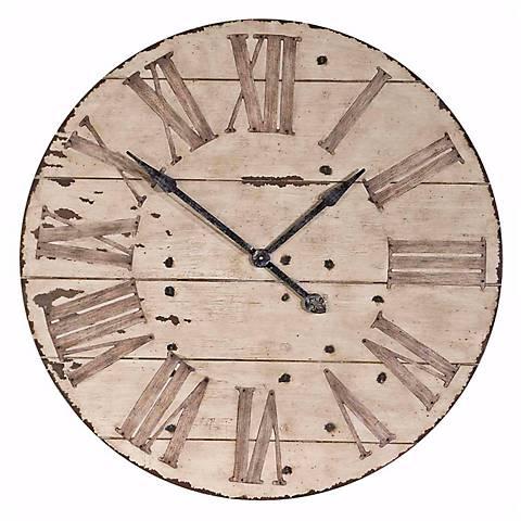 "Uttermost Harrington 36"" Wide Antique Wall Clock"