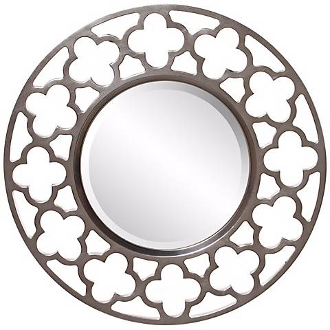 """Medrassa Tile Openwork 20"""" Round Wall Mirror"""