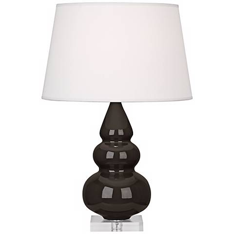 Robert Abbey Coffee Triple Gourd Ceramic Table Lamp