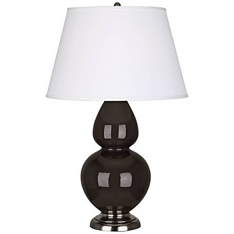 "Robert Abbey 31"" Coffee Ceramic and Silver Table Lamp"