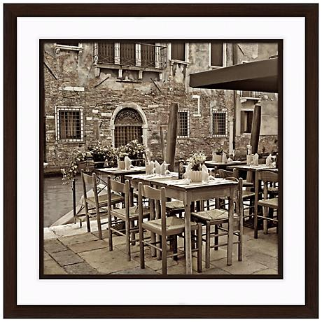 """Fine Dining I 20 1/2"""" Square Framed Photo Wall Art"""