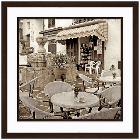 """Fine Dining II 20 1/2"""" Square Framed Photo Wall Art"""