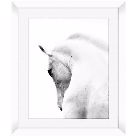 "White Horse 26 1/2"" High Framed Photo Wall Art"