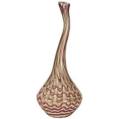 Dale Tiffany Napa Vino Hand-Blown Art Glass Vase
