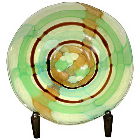 Dale Tiffany La Mesa Hand-Blown Glass Charger with Stand