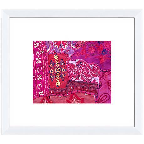 "Organic Tapestry I 18"" Wide Framed Wall Art"