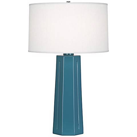 "Robert Abbey Mason Steel Blue 26"" High Table Lamp"