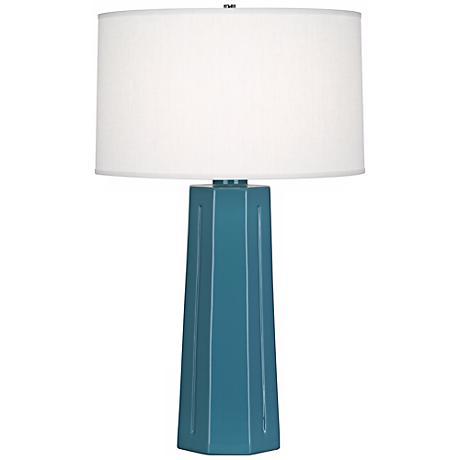 "Robert Abbey Mason Steel Blue 26"" High Table Lamp"
