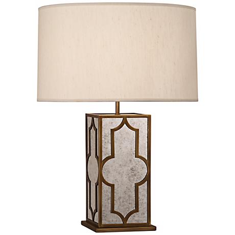Robert Abbey Addison Mirror and Brass Table Lamp