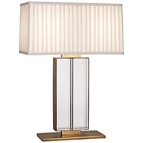 Robert Abbey Sloan Crystal and Aged Brass Table Lamp