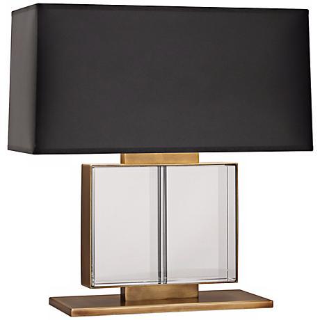 Robert Abbey Sloan Wide Brass Table Lamp