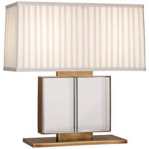 Sloan Wide Brass and Crystal Robert Abbey Table Lamp